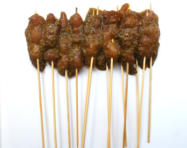 You should have 12 - 14 skewers.