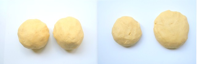 Divide dough into two balls and flatten into discs. Wrap in plastic wrap and refrigerate for at least an hour and up to 3 days.